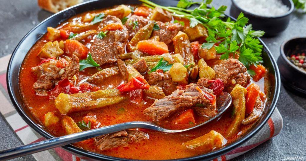 طريقة طبخ البامية باللحم
